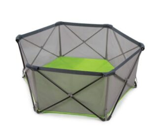 Summer Pop 'n Play Portable Playard, Green – Lightweight Play Pen for Indoor and Outdoor Use – Portable Playard with Fast