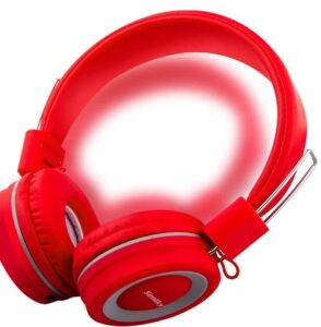 Kids Headphones with Microphone, Wired On-Ear Headsets with Safe Volume Limited 90dB, Foldable Durable Earphones for...