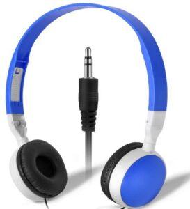 Kids Headphones for Classroom in Bulk, Keewonda 5 Pack Classroom Set of Headphones KW-X05 Wholesale Earbuds Earphones for School Students Children Toddlers