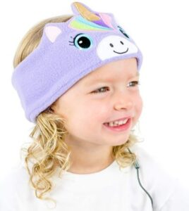 CozyPhones Kids Headphones for Girls Volume Limited with Thin Speakers & Super Soft Stretchy Headband - Perfect Toddlers & Children's...