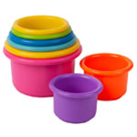 First Year Stack Up Cup Counting Baby Bath Toys