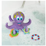 Nuby Floating Purple Octopus with Hoopla rings Baby Bath toysjpg