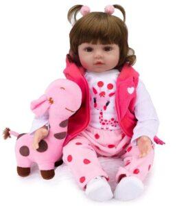 Kaydora Reborn Baby Doll 22 inch Lifelike Baby Reborn Toddler Girl, Named Nana